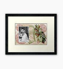 Steampunk Victorian Floral Corset Framed Print
