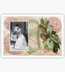 Steampunk Victorian Floral Corset Sticker