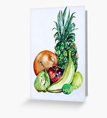 Fruit Still Life Watercolour Painting Greeting Card