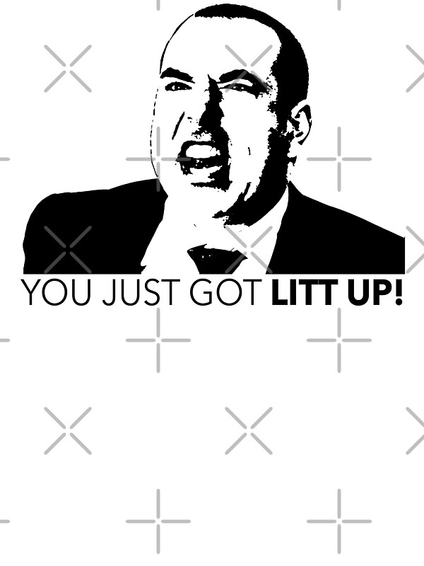 suits louis litt you just got litt up tshirt stickers by. Black Bedroom Furniture Sets. Home Design Ideas