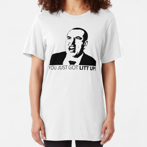 Suits Louis Litt You Just Got Litt Up Tshirt Slim Fit T-Shirt