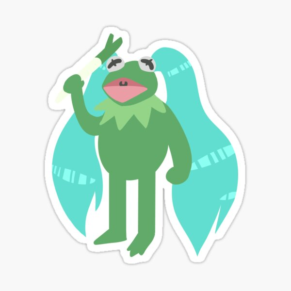 Kermiku is God Sticker