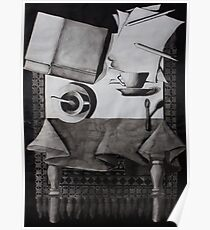 Still Life, ink on paper, 1998 Poster