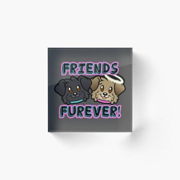 Friends Furever Acrylic Block