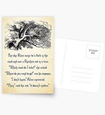 Alice im Wunderland Zitat - wohin willst du gehen? - Cheshire-Katze-Zitat - 0145 Postkarten