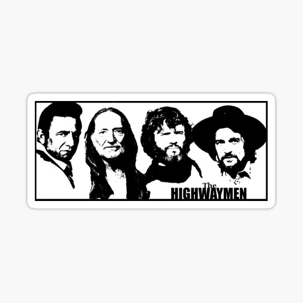 Outlaw Country Supergroup - The Black Stencil Sticker