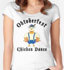 Oktoberfest Chicken Dance Women's Fitted Scoop T-Shirt