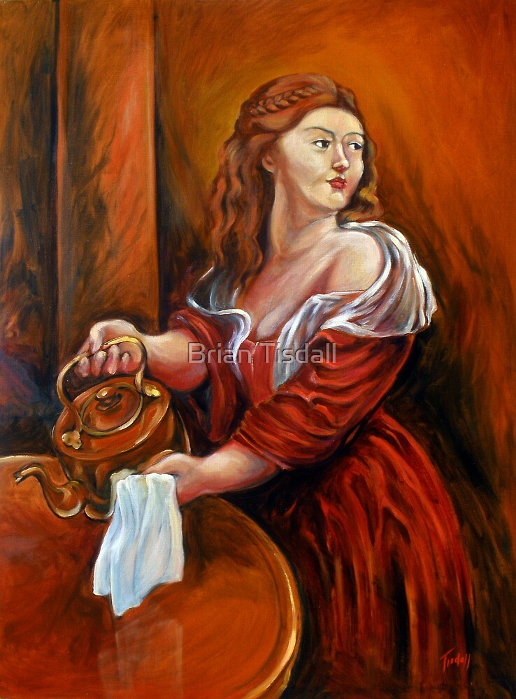 Girl with the Kettle by Brian Tisdall