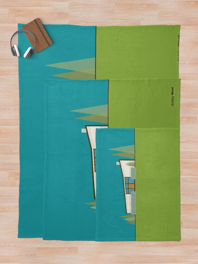 "Alternate view of Mid Century Modern House ""365 Minerva Lane"" by Bobby West Throw Blanket"