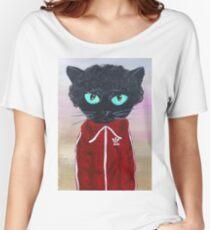 Chas Tenenbaum Black Cat Adidas  Women's Relaxed Fit T-Shirt
