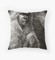 Crying statue Throw Pillow