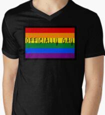 Prideful Words - Officially Gay Men's V-Neck T-Shirt