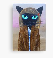 Anderson Tenenbaum black cat  Canvas Print