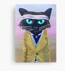 Anderson Tenebaum black cat Canvas Print