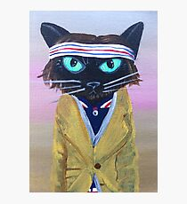 Anderson Tenebaum black cat Photographic Print