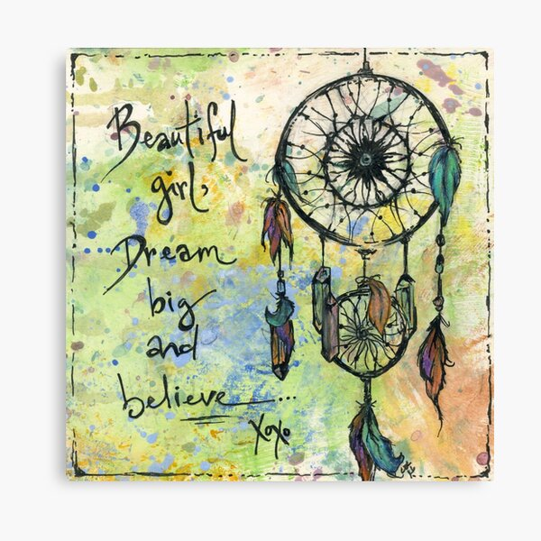 Beautiful girl. Dream big and believe  Canvas Print