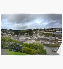 """"""" Passing Storm, Mevagissey Harbour """" Poster"""