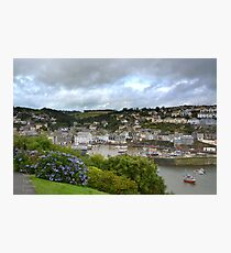 """ Passing Storm, Mevagissey Harbour "" Photographic Print"