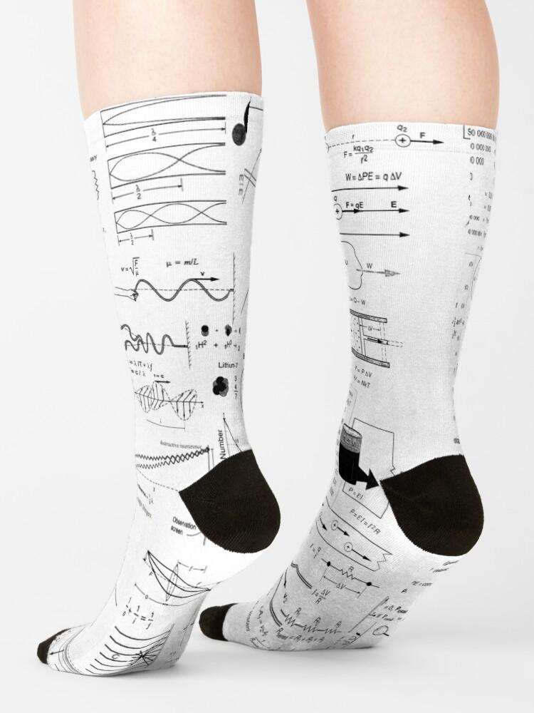 Alternate view of General Physics Formula Set Socks