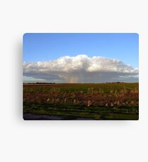 It's Raining Rainbows - Wogollow Farm, Benerembah Canvas Print