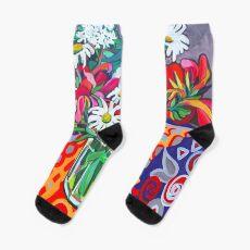 Daisy Still Life Socks