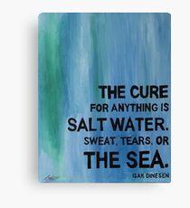 Isak Dinesen Salt Water Quote Painting Canvas Print