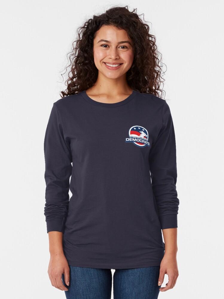 Alternate view of Payne County Democrats Basic Logo Long Sleeve T-Shirt