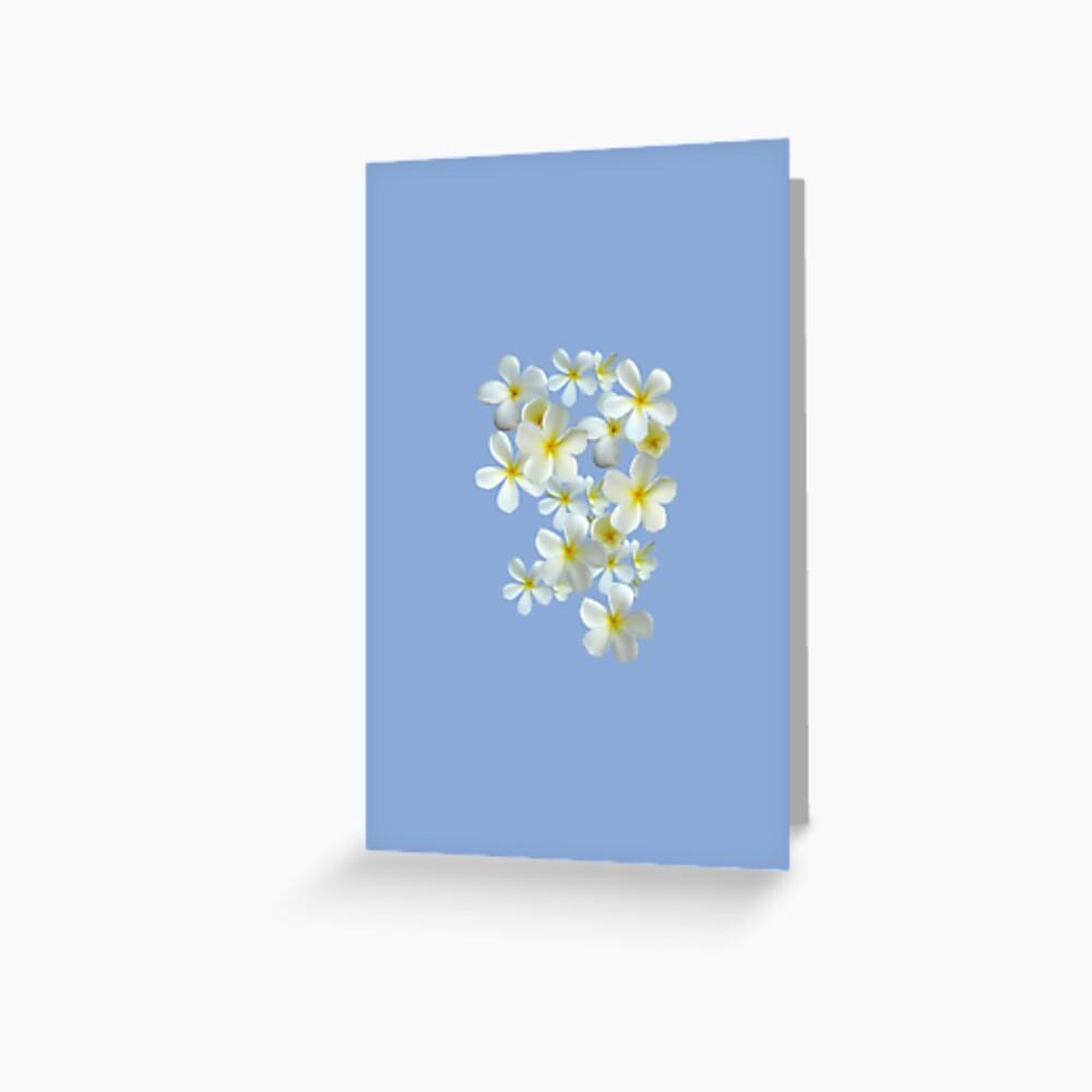 Frangipani - Weiß und Gelb Grußkarte