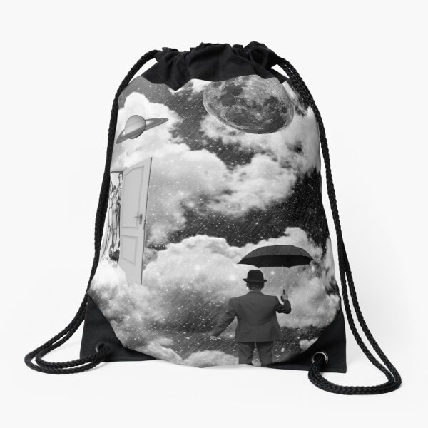 Black & White Collection -- Heaven's Door Drawstring Bag