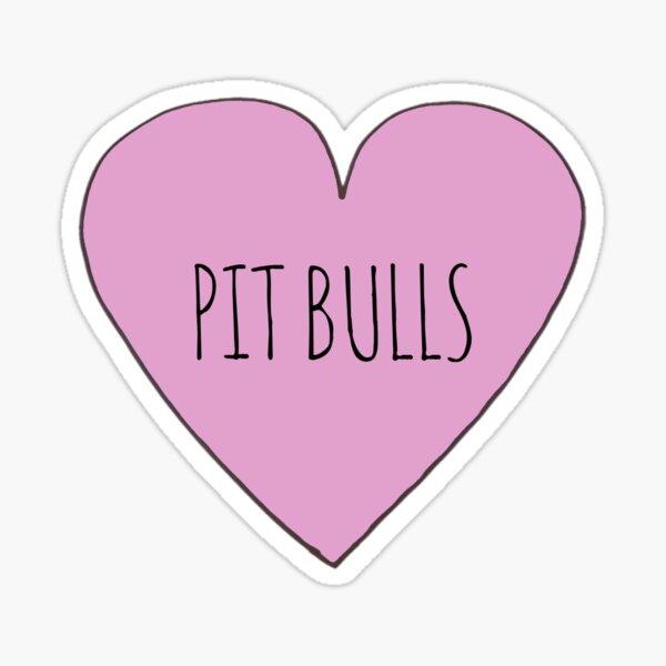 Pit Bull Love Sticker