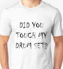 Drum Set Black Slim Fit T-Shirt
