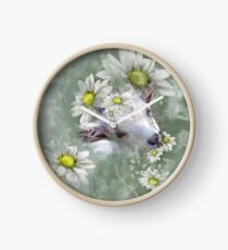 Don't Eat the Daisies Baby Goat Clock