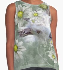 Don't Eat the Daisies Baby Goat Sleeveless Top