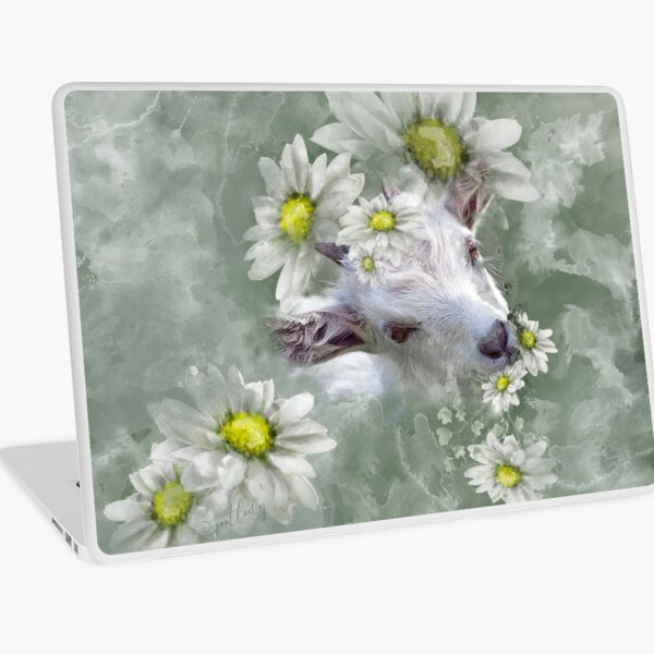 Don't Eat the Daisies Baby Goat Laptop Skin