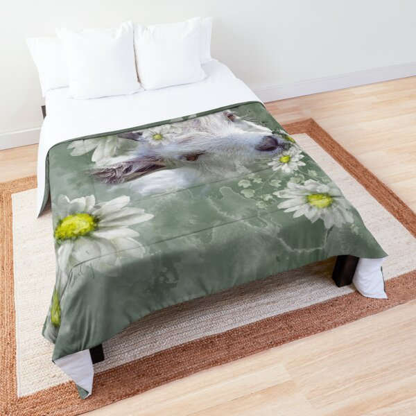 Don't Eat the Daisies Baby Goat Comforter