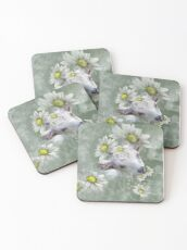 Don't Eat the Daisies Baby Goat Coasters