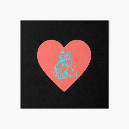 Jesus heart Art Board Print