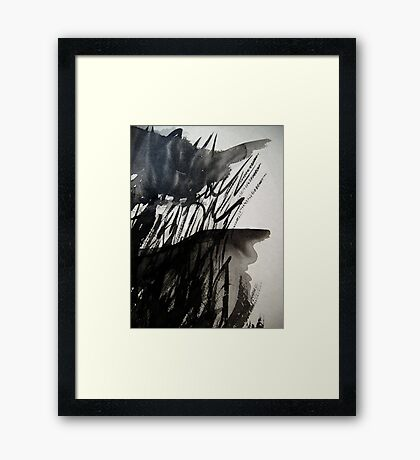 pushed to the precipice....... the reality of taking it to the edge  Framed Print