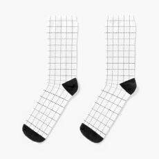 Black Grid Socks