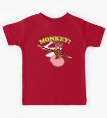 Monkey and his faithful Cloud Kids Tee