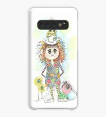 Little Girl with Frog and Spiders Case/Skin for Samsung Galaxy