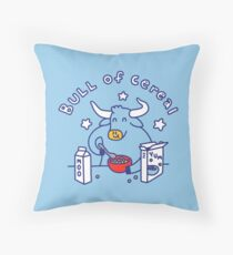 Bull of Cereal Throw Pillow