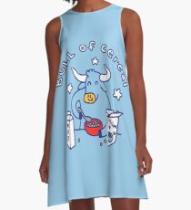 Bull of Cereal A-Line Dress