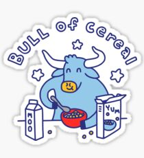Bull of Cereal Glossy Sticker