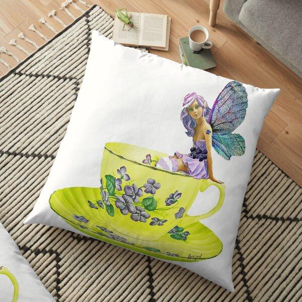 Fairy, Teacup Fairy, Violet, Floor Pillow
