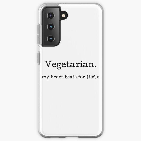 Vegetarian - my heart beats for (tof)u Samsung Galaxy Soft Case