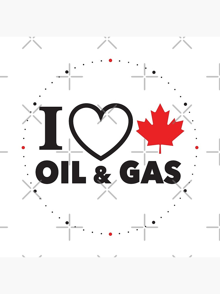 I Love Canadian Oil and Gas Red Heart and Maple Leaf Alberta Pipelines MCGA White background HD HIGH QUALITY ONLINE STORE by iresist