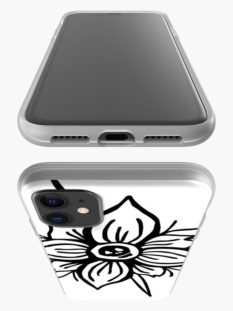 Alternate view of Flower Skull iPhone Case & Cover