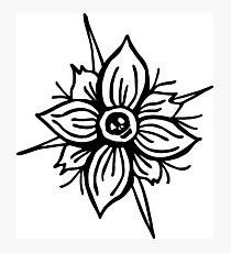 Flower Skull Photographic Print