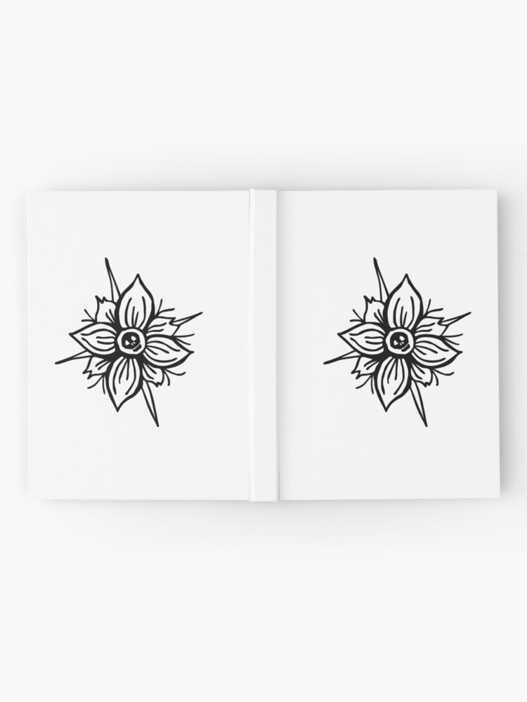 Alternate view of Flower Skull Hardcover Journal